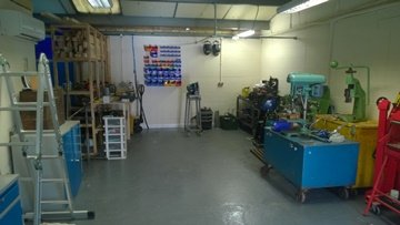 New engineering workshop- available for overhauls & other specialist work